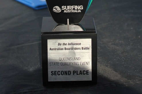 Kirra Surfriders 2nd place trophy