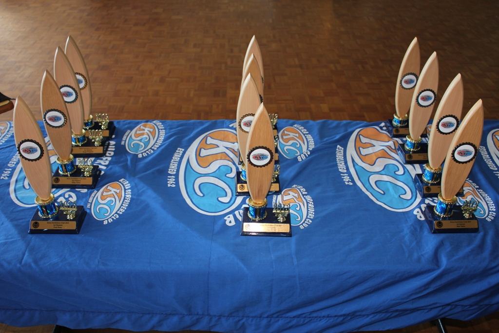 2013 Club round Pointscore Trophies