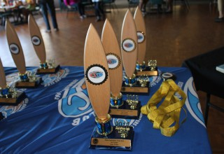 Grom division trophies and medals